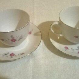 Кружки, блюдца и пары - Две чайные пары - фарфор hebei porcelain, 0