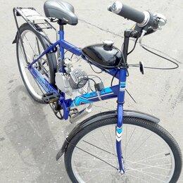 Мототехника и электровелосипеды - Велосипед с бензиновым мотором Techno QF-80-6, 0