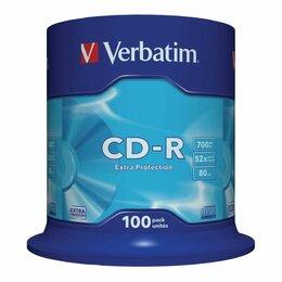 Диски - Диски CD-R VERBATIM 700 Mb 52х, КОМПЛЕКТ 100…, 0