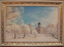 Картины, постеры, гобелены, панно - Покрова на Нерли. 40х60см, 0