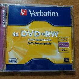Диски - Диски DVD+ RW verbatim 4.7Гб 4x, 15 шт, 0