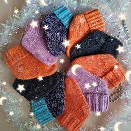 Носки - Вязаные детские носочки 0-3 мес(ручной работы) , 0