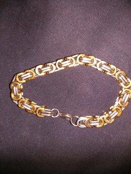 Браслеты - Браслет мужской белого и желтого металла, 0