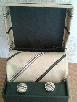 Галстуки и бабочки - Набор галстук с запонками, 0