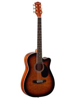 Акустические и классические гитары - Акустическая гитара HOMAGE LF-3800CT-SB с вырезом, 0