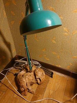 Декоративные свечи - Лампа 70х годов на основании из капы, 0