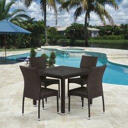 Столы и столики - Обеденный комплект плетеной мебели из искусственного ротанга T257A, 0