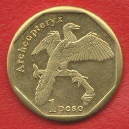 Монеты - Синт-Мартен остров 1 песо 2019 г. Археоптерикс Archeopteryx Динозавры, 0