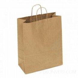Упаковочные материалы - Пакет «Крафт» крученые ручки 240х140х280 мм 25…, 0