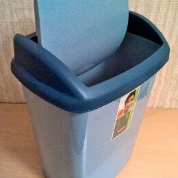 Мусорные ведра и баки - Ведро мусорное 25 литров с крышкой пластик, БОЛЬШИЕ, НОВЫЕ, 2 штуки., 0
