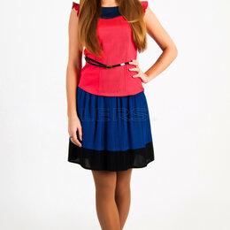 Юбки - Женская плиссированная юбка синего цвета, новая, 0
