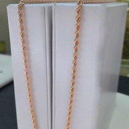 Цепи - Золотая цепочка • Корда длина 50 см, проба 585°, 0