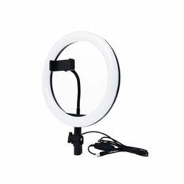 Интерьерная подсветка - Кольцевая светодиодная LED лампа с держателем 26 см БЕЗ ШТАТИВА, 0