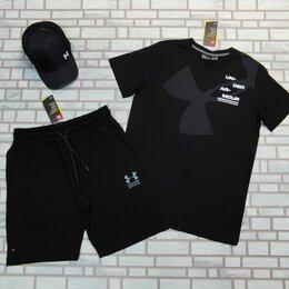 Спортивные костюмы - Комплект футболка и шорты черный under armour, 0