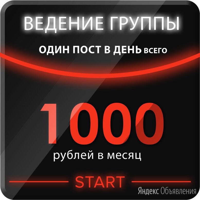 Ведение группы СОЦИАЛЬНЫЕ СЕТИ - 1 пост/день за 1000 рублей целый месяц! - IT, интернет и реклама, фото 0