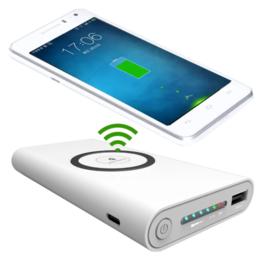 Универсальные внешние аккумуляторы - Внешний аккумулятор Power Bank Qi 20000 mah с беспроводной зарядкой 999799, 0