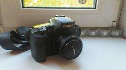 Фотоаппараты - Фотоаппарат Canon 7d + объектив 50 мм 1.8, 0