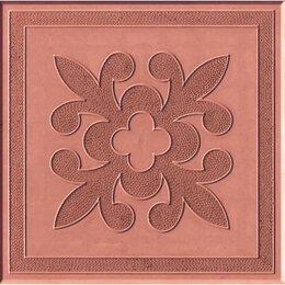 Тротуарная плитка, бордюр - Тротуарная плитка 300*300*30 краковский квадрат красная, 0