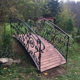 Садовые фигуры и цветочницы - кованный мостик, 0