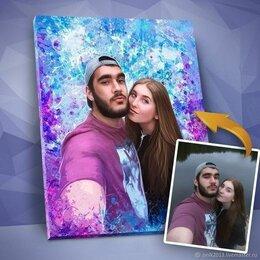 Картины, постеры, гобелены, панно - Портрет по фото на холсте, Дрим-арт, Love Is, 0
