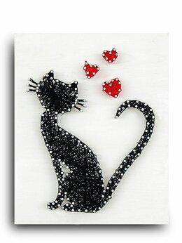 Игровые наборы и фигурки - Стринг арт STRING ART LAB A4001 Кошка, 0