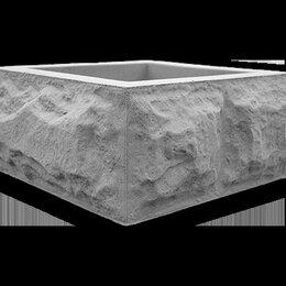 Строительные блоки - Декоративные блоки для столбов забора «Рваный камень», 0