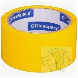 Строительный скотч - Скотч 48мм х 40 м OfficeSpace, 45мкм, желтая, ШК, 0
