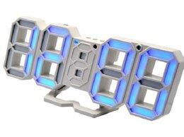 Часы настольные и каминные - Часы электронные  8835 USB (синие -цифры), 0