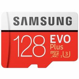 Карты памяти - MicroSDXC 128 Gb Samsung EVO+ 100 Мб/с, 0