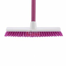 Груминг и уход - Щетка пластм. «SHROBER» для чистки ковров 270 мм, роз. щетина, c черенком, 120 с, 0