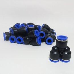 Комплектующие - Тройник для пневмошлангов 10 мм Y-образный, 0