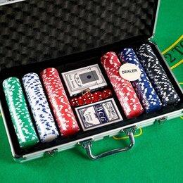 Настольные игры - Покер, в металлическом кейсе 20.5х38 см, 0