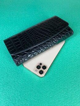 Кошельки - Кошелек черный женский кожа крокодила, 0