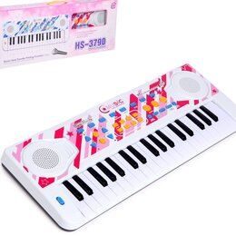 Детские музыкальные инструменты - Синтезатор с микрофоном, 0