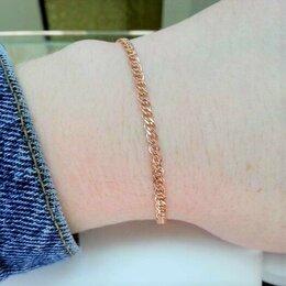 Браслеты - Золотой браслет на руку - плетение Нонна, размер…, 0