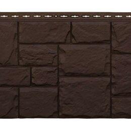 Изоляционные материалы - Фасадная панель Grand Line Крупный камень стандарт коричневая, 0