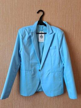 Пиджаки - Мужской голубой пиджак, 0