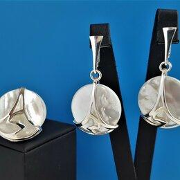 Комплекты - Комплект серебряный с перламутром натуральным, 0