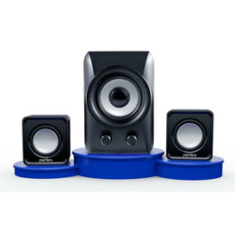 Компьютерная акустика - Колонки 5Вт+2х3Вт Perfeo Podium, чёрный (PF 5130), 0
