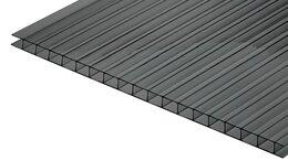 Поликарбонат - Сотовый поликарбонат КИВИ Серый 12000х2100х6 мм, 0