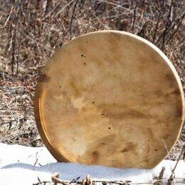 Ударные установки и инструменты - Музыкальный алтайский бубен и колотушка. Доставка, 0