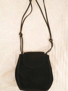 Сумки - Вечерняя бархатная черная сумка. Италия, 0