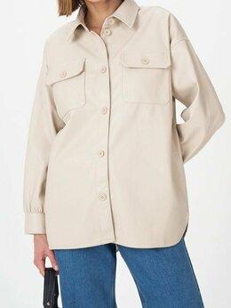Куртки - Куртка-рубашка из эко-кожи Befree бежевая, 0