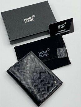 Обложки для документов - Обложка на паспорт Montblanc кожаная черная…, 0