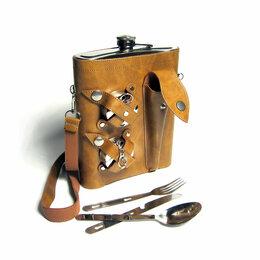 Термосы и термокружки - Фляжка, вилки, ложки и ножи 1392 мл  2 стакана, 0