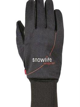 Перчатки и варежки - Юниорские перчатки Snowlife Soft Shell JR, black, 0