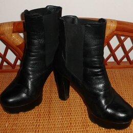 Ботинки - Ботинки ботильоны черные демисезонные натуральная кожа р.36 ст.24, 0