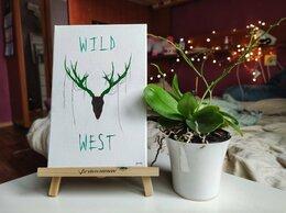 """Картины, постеры, гобелены, панно - Картина акрил 20х30 """"Дикий запад"""" , 0"""