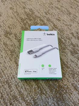Зарядные устройства и адаптеры - Кабель Belkin USB A - Lightning, 0