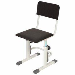 Компьютерные кресла - Стул для школьника регулируемый Polini kids City L, велюр, серый, 0